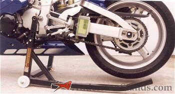 Motorcycle wheel stand